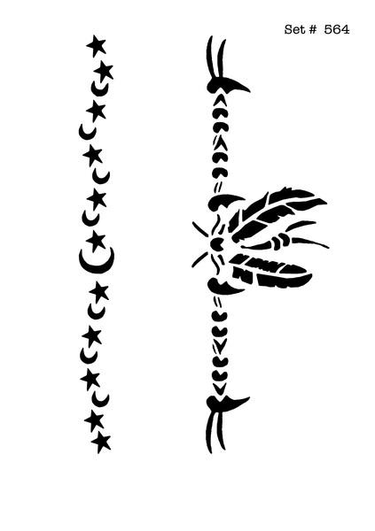 Screenface Arm Band Tattoo Body Art Stencils