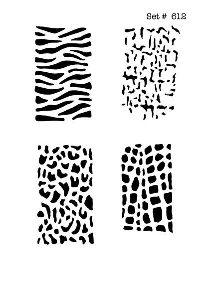 Screenface Animal Print Tattoo Body Art Stencils