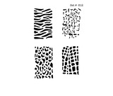 Animal Print Tattoo & Body Art Stencils