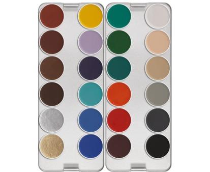 Kryolan Aquacolor Palette 24 colour