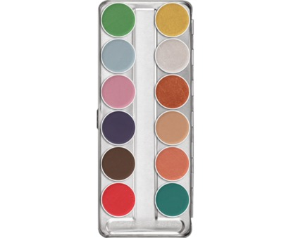 Kryolan Aquacolor Interferenz Palette 12 Colours