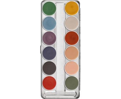 Kryolan Supracolor Interferenz Palette  12 Colours