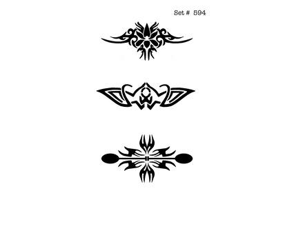Tribal Tattoo & Body Art Stencils
